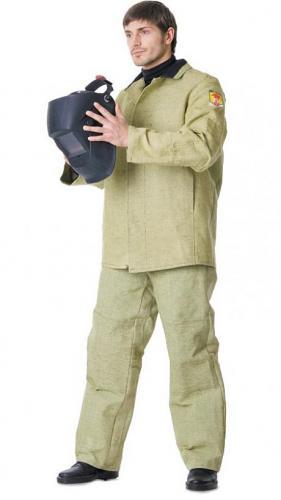Костюм сварщика брезентовый с налокотниками и наколенниками куртка, брюки