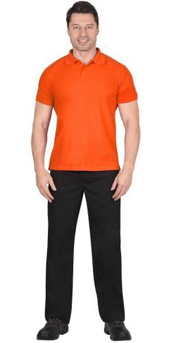 Рубашка-поло короткие рукава оранжевая