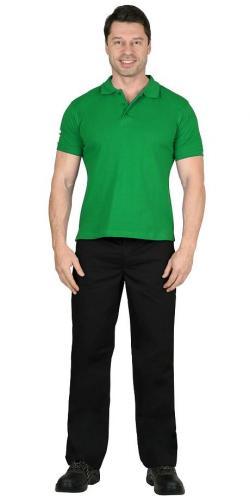 Рубашка-поло короткие рукава св.зеленая