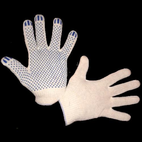 Перчатки трикотажные Стандарт с ПВХ (точка) 10 кл.