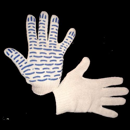 Перчатки трикотажные Экстра с ПВХ (волна) 7 кл.