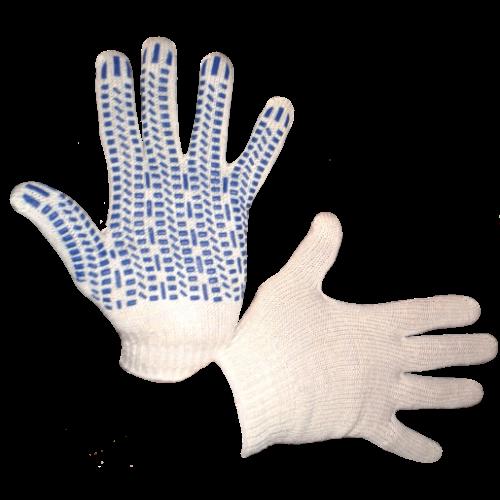Перчатки трикотажные Экстра с ПВХ (протектор) 7 кл.