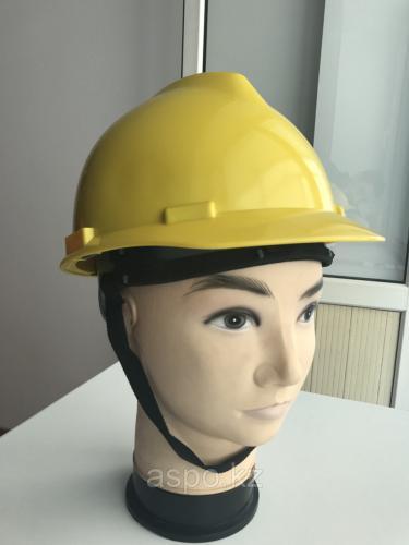 Каска защитная Kazat с регулятором желтая