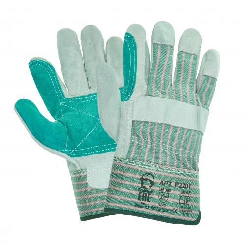 Перчатки спилковые, комбинированные, усиленные