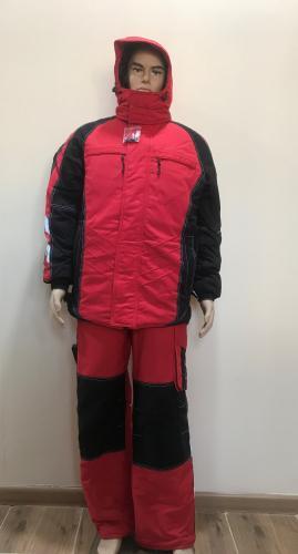 """Костюм """" Имидж"""" куртка, полукомбинезон, красно-черный"""