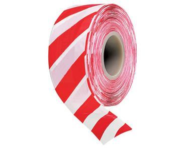 Лента оградительная ЛО-200 красно-белая(50х200)