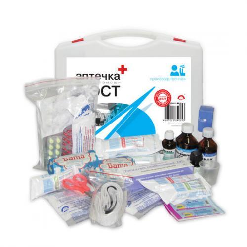 Аптечка ФЭСТ производственная (пластиковый чемодан)
