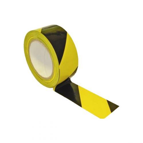 Лента оградительная ЛО-250 желто-черная (75х250)