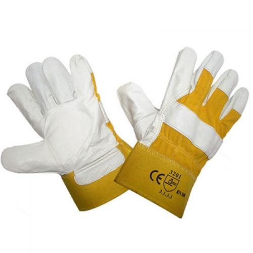Перчатки кожаные,комбинированные